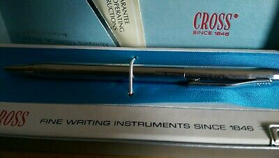 VTG CROSS USS CHROME PEN # 3502 w Box  used