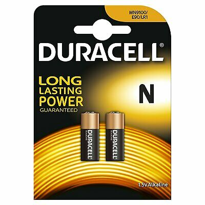 Pile Duracell Alcaline MN9100 N Lady LR1/ E90 /4001/ AM-5/910A Lot de 2 pcs 1.5