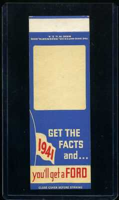 1941 FORD Salesman Sample Matchbook Cover Flat - Get The Facts and...