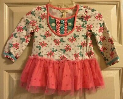 NWT In Bag Matilda Jane Girls Size 8 Once upon a time Oh Dear Tunic Top New