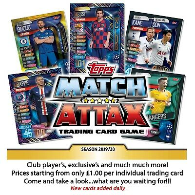 TOPPS Match Attax Season 2019/20 - Champions League - Europa League