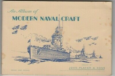 Cigarette cards John Player & Sons Modern Naval Craft set of 50 in original book