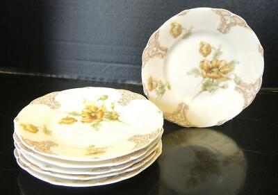 Six Silesia Old Ivory No. 122 Bread and Butter Plates