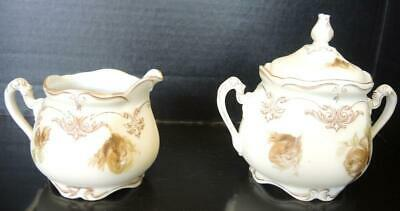 Silesia Old Ivory No. 16 Sugar and Creamer * Small Accent Bowl