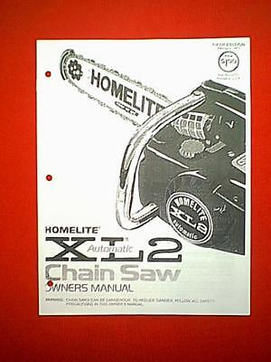 Heavy Equipment Parts & Accessories HOMELITE XL2 CHAINSAW OWNERS ...