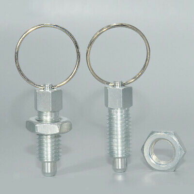 Galvanised Carbon Steel  Index Plunger with Ring Pull Spring Loaded