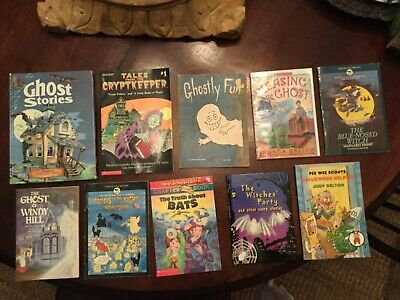 Lot of 10 Halloween Scary Children's Picture Books Scholastic vintage Ghost