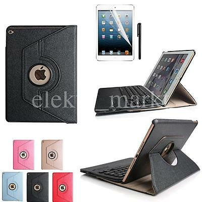360° Apple iPad Air 2 (2014) Case Cover Stand with Wireless Bluetooth Keyboard