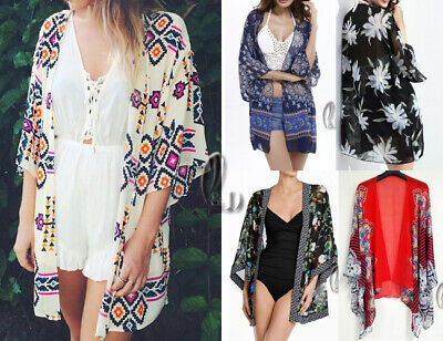 WHOLESALE BULK LOT 10 MIXED Style Chiffon Open Top Beach Kimono Cover sw054 072