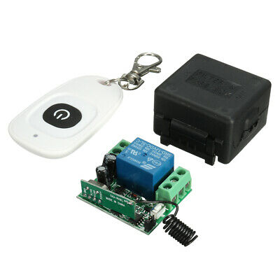 12V Wireless Remote Control Relay Switch 1CH Receiver Module +RF Transmitter