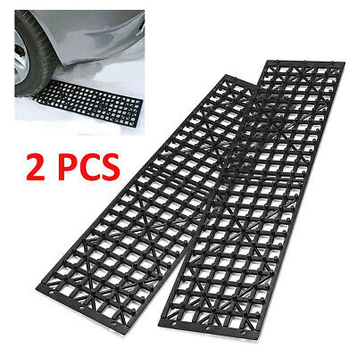 MECO 2Pcs 4WD Black Recovery Traction Tracks Sand Mud Snow Off Road Tire Ladder