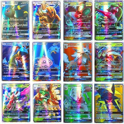Hot Sale 100pcs 95 GX + 5 MEGA Cards Pokemon Card Holo Flash Trading GX Cards