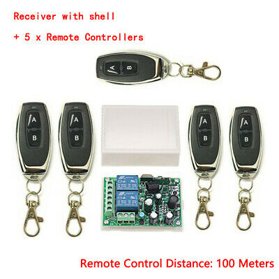 Wireless Remote Control Switch AC 85-250V 2CH Relay Receiver RF Transmitter Set