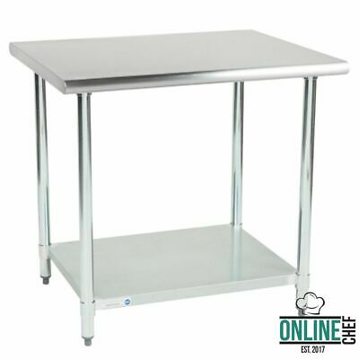 "30"" x 36"" Stainless Steel Work Prep Table Undershelf Restaurant Backsplash NSF"