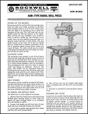 Delta Rockwell Ram Type Radial Arm Drill Press Manual