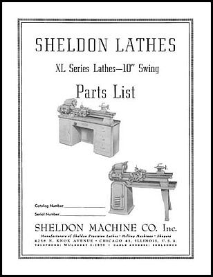 Sheldon 10 Inch XL Series Lathe Parts Manual