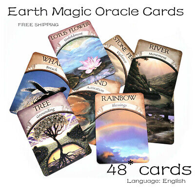 Magic Oracle Cards Earth Magic Read Fate Tarot 48~card Deck And Guidebook Set