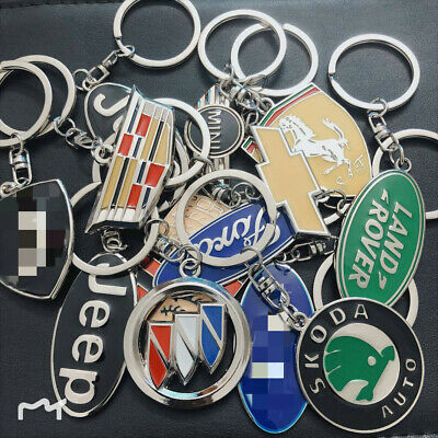 Fashion New 3D Metal Key Chain Key Ring All Car logo Keychain pendant Key Holder