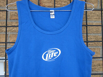 New Ladies (XL) Miller LITE Bottle Beer T Shirt Top Tank Bar Summer Beach wait