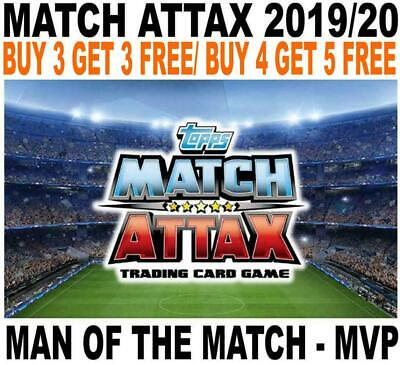 Match Attax 2019/20 19/20 - Man Of The Match & Mvp Cards - Champions League