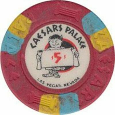 Caesars Palace Casino Las Vegas NV $5 Chip 1974