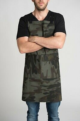 """ Hunter"" Camouflage Kitchen Apron for BBQ, Cooking. Hospitality & Workwear too!"