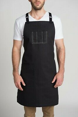 Modern Cotton Canvas Apron for restaurant, cafe, bar, kitchen, cooking & Baking!