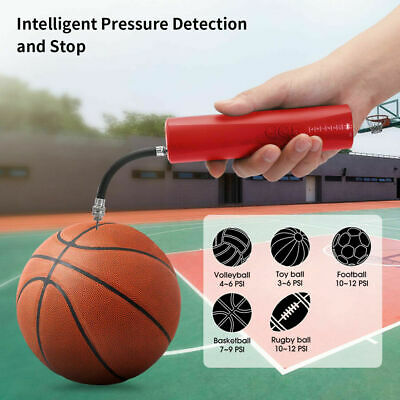 Fast Self-Inflating Electric Air Pump+2 Needles Adapter For Ball Football Sports