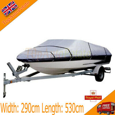 1PCS Waterproof Gray 14ft-16ft 210D Speedboat Boat Cover Match Fish-Ski V-Hull