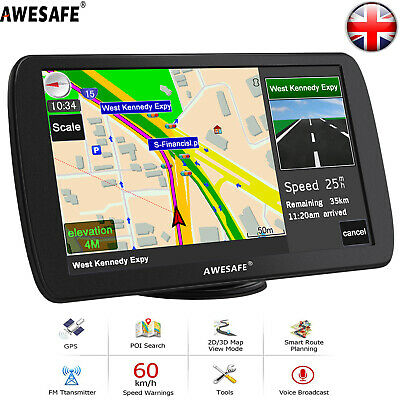 "Awesafe 9"" GPS Navi Navigation for Truck Car SAT NAV 8GB Europe Maps Free Update"