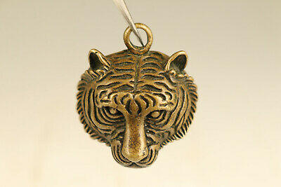 chinese copper tiger statue collectable pendant netsuke