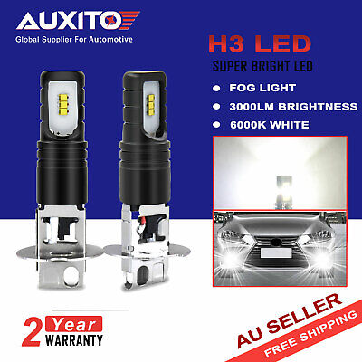 2X Auxito Csp H3 Led 160W Headlight Fog Driving Drl Light Bulb Lamp Globe 6000K