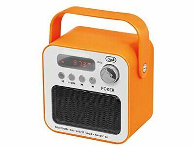 Trevi Portable FM Radio With Bluetooth and Handsfree in Orange FREE UK DELIVERY