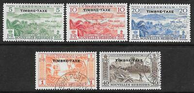 New Hebrides (French) 1957 Postage Due Set (Fine Used)