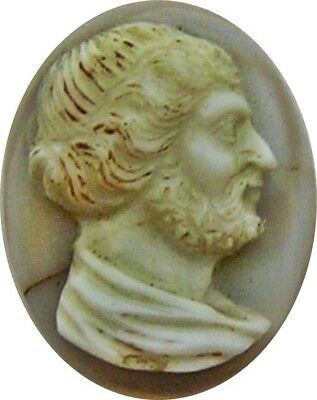 2nd century A.D. Nice Ancient Roman Hardstone Agate Cameo of Emperor Hadrian