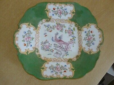 Minton Cockatrice Bread or Cake Plate - 4863 - Vintage - Green