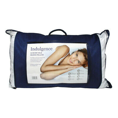 Indulgence Thermal Regulating Silk Blend Bed Pillow Bedding Hypo-Allergenic