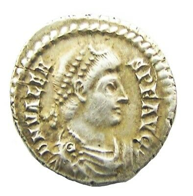 Roman Silver Siliqua of Emperor Valens c. 367 - 375 A.D. Trier mint in Germany