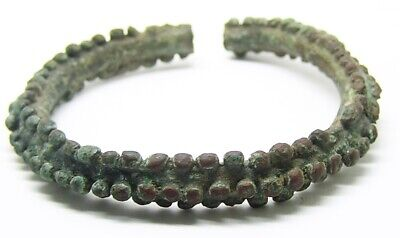 5th - 3rd century B.C. Excavated Iron Age Celtic Knobbled Bracelet Arm Ring