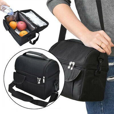 Picnic Travel Food Box Tote Carry Bags Mens 8L Large Insulated Lunch Bag Cooler