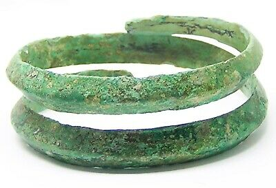 8th - 6th century B.C. Ancient Hallstatt Coiled Bronze Bracelet