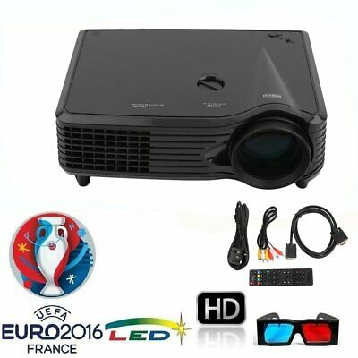 New 2000 Lumen HD LCD Display LED Projector Multimedia Home Theater  Cinema L