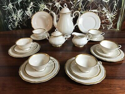 ROSENTHAL Germany CHIPPENDALE edles 21- teiliges Tee- Kaffeeservice / 6 Personen