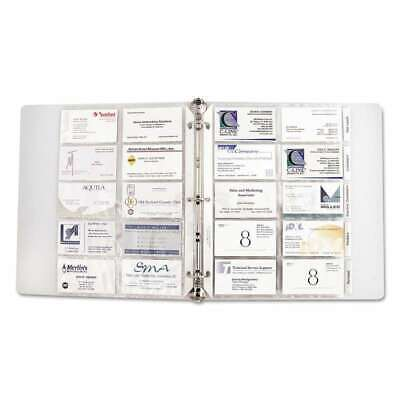 C-Line® Business Card Binder Pages, Holds 20 Cards, 8 1/8 x 11 1/ 038944612171