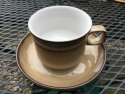 Denby Pottery Country Cuisine Pattern Cup and Saucer Stoneware - 5 Available