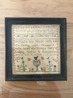Charming small sampler no date but almost certainly circa 1800
