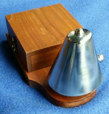 Antique Vintage Original Electric Door Railway Butler Alarm Shop Bell Wood Brass