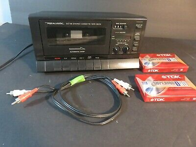 Optimus Realistic SCT-86 Auto Stop Stereo Cassette Tape Deck Compact Dolby