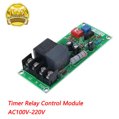 AC100V-220V Timer Relay Control Module Turn Off Delay Switch Board For Fan UK