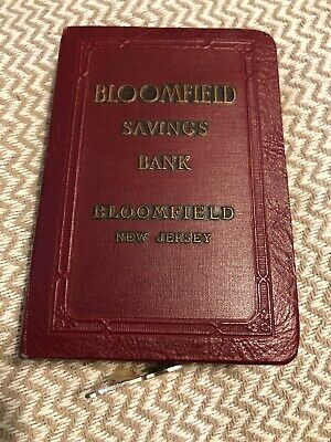 Vintage Book Coin Bank-Bloomfield Savings Bank,New Jersey With Key!!!!!!